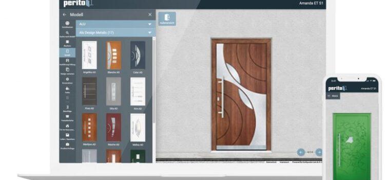 Online конфігуратор вхідних дверей заповненням Peroto